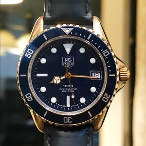 Tag Heuer Submariner with Leather Strap and Natos